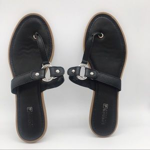 Sperry Top Sider Carolina Navy Sandals Size 12